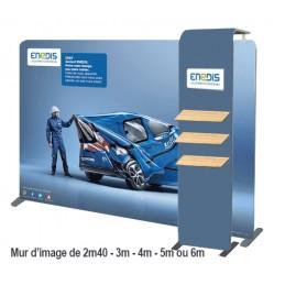 COMTUBE ® Droit Standard avec Mini Arche & Tablettes