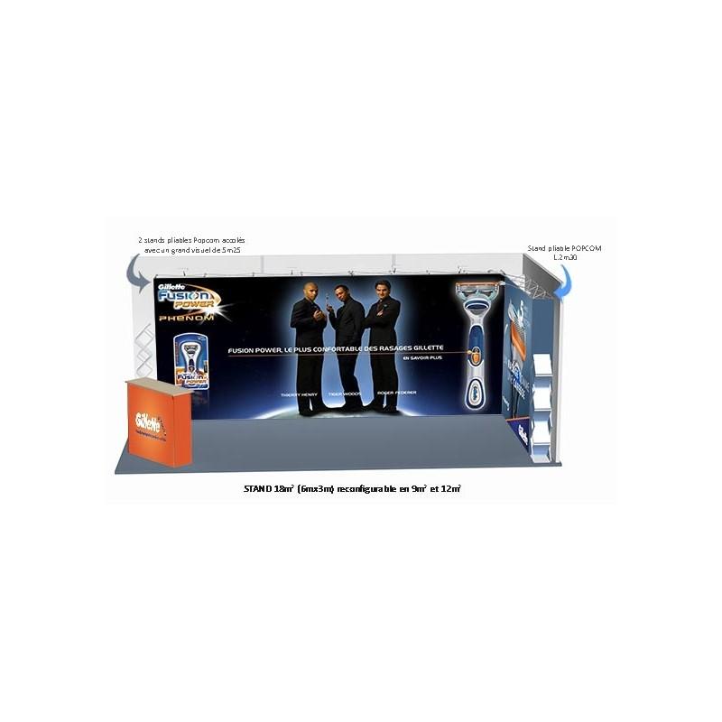 PACK STAND 3 POPCOM DROITS 18 m2 (FIT)