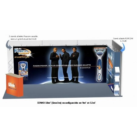 PACK STAND 3 POPCOM DROITS® FIT 18 m2