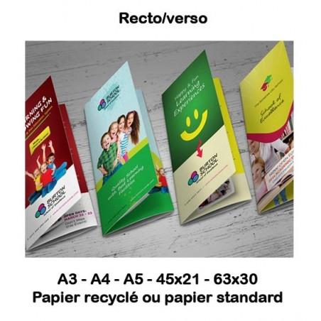 DEPLIANTS - PLAQUETTES (standard & recyclé)