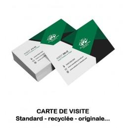 Cartes de visite standard, premium, recyclée, multiples formats