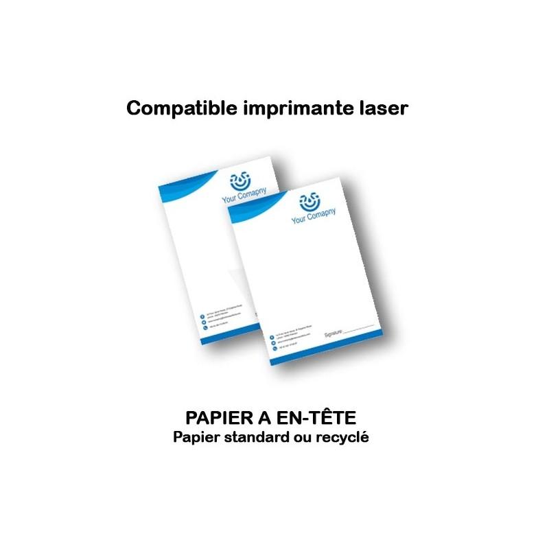 Papier à entête A4 sur papier standard, premium, ou recyclé (recto ou Recto Verso)