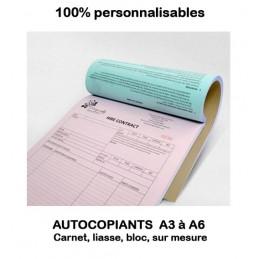Autocopiants personnalisées A3 à A6 ou sur mesure - Blocs, carnets ou liasses