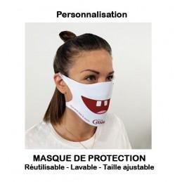 Masques de protection publicitaires personnalisables ou vierges (réutilisables)