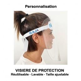 Visières de protection publicitaires personnalisables ou vierges (réutilisables)