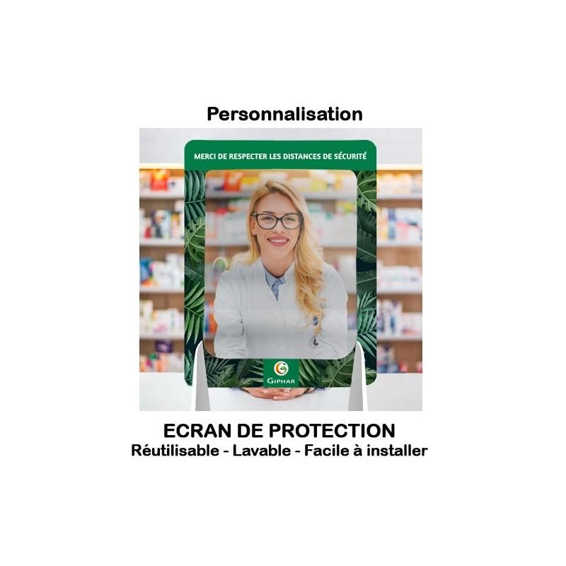 Ecrans de protection publicitaires personnalisables ou vierges (réutilisables)