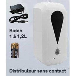 Distributeur solution hydroalcoolique sans contact (photo non contractuelle)