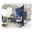 CLOISONS DE BUREAU MODULABLES MAGNETIQUES COMTUBE® MAGNET ROTATION 360°