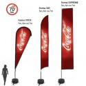 COMFLAG® XTREME 3 types de voiles & 3 hauteurs